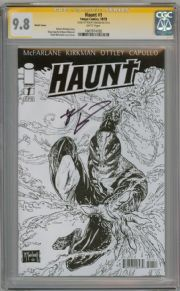 Haunt #1 Sketch Variant CGC 9.8 Signature Series Signed Robert Kirkman Image comic book